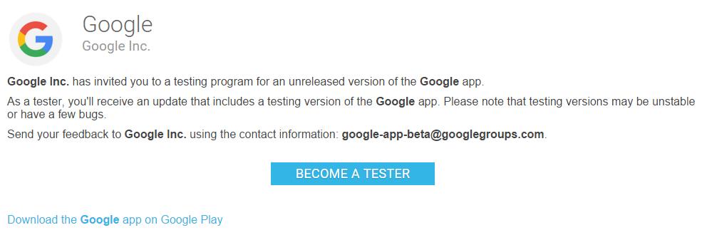 تحميل النسخة التجريبية لتطبيق Google الرسمي على أندرويد