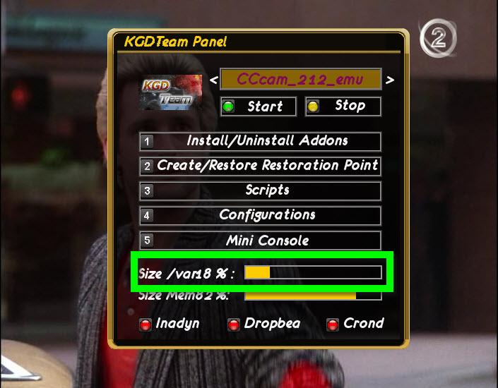 ���� KGD2.1 ��������� ���� CCcam2.1.2 ����� � ���� ������ ������