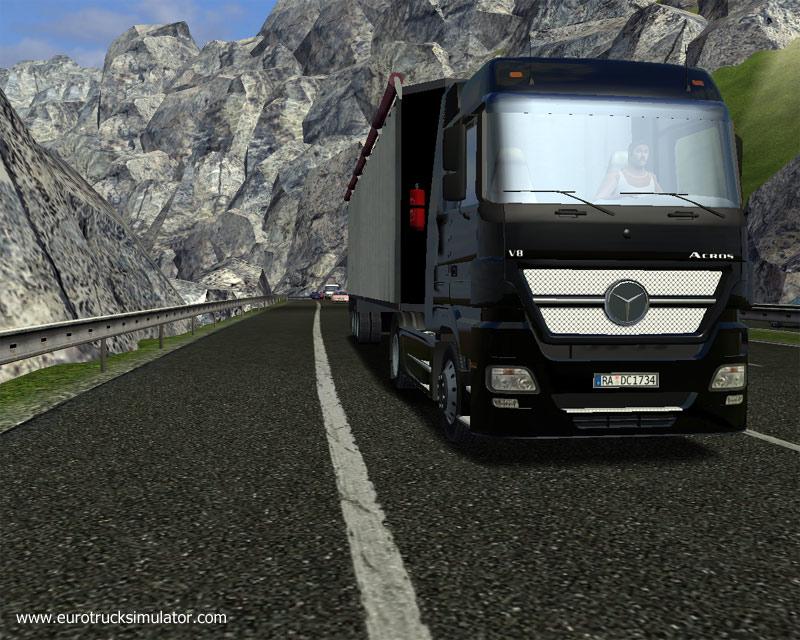 لعبة الشاحنات العملاقة Euro Truck Simulator بحجم خيالي ورابط صاروخي