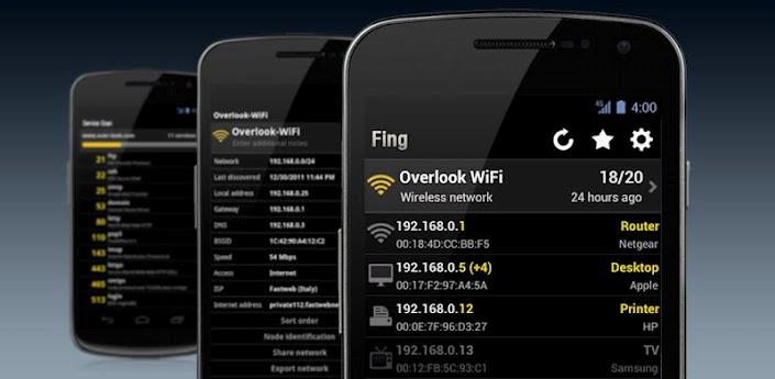 معرفة الأشخاص المتصلين بشبكة الواي فاي بواسطة تطبيق Fing
