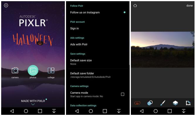 واجهة أدوات جديدة كليا بعد تحديث معالج الصور Pixlr على أندرويد