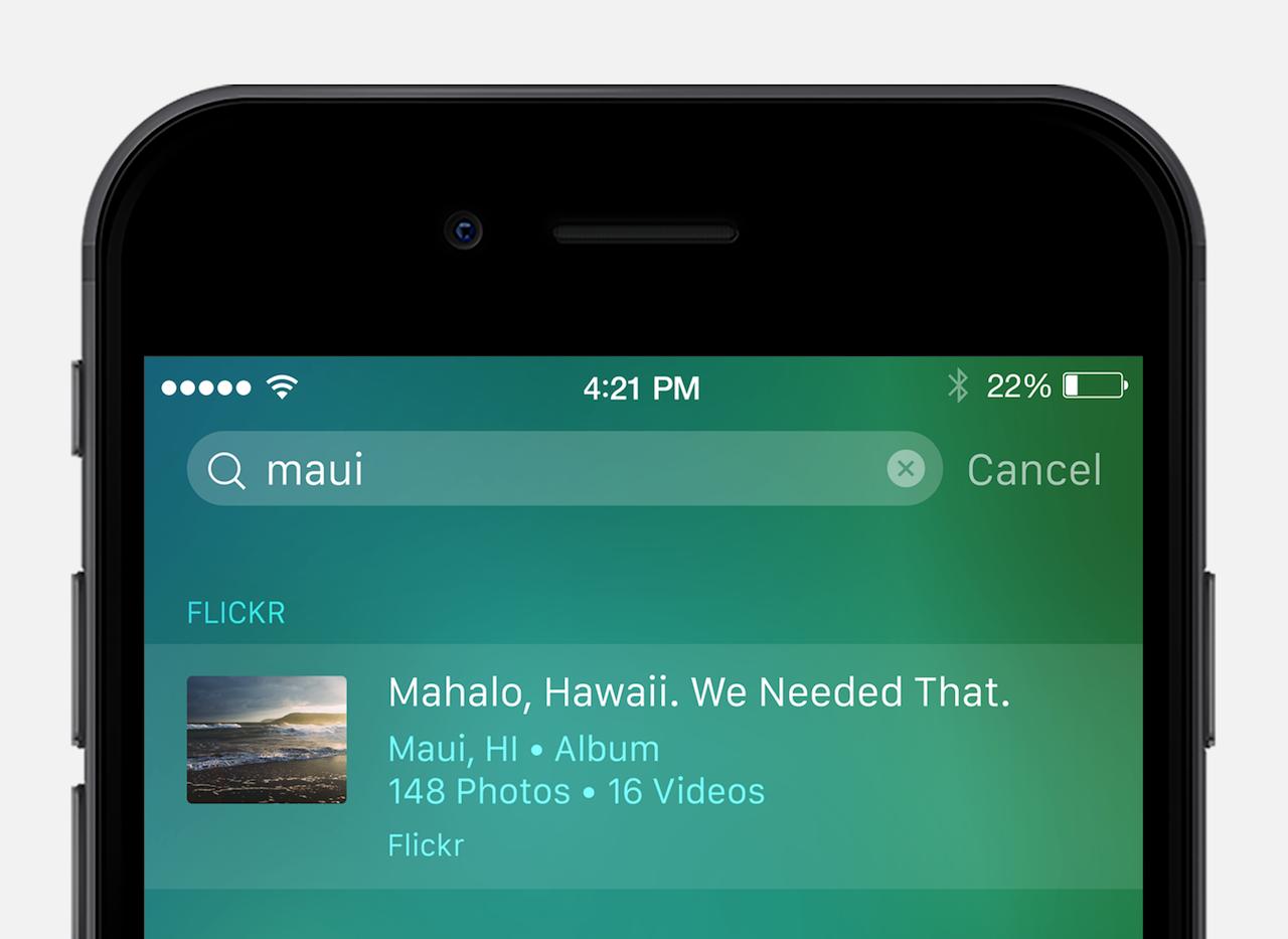 تحديث جديد تطبيق فليكر يدعم خاصية البحث Spotlight و 3D Touch