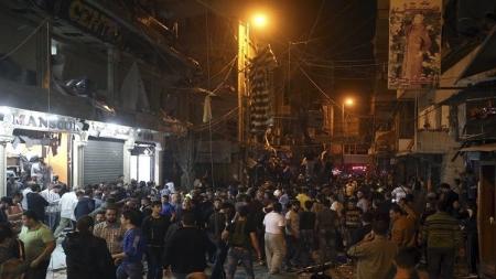 بالصور حداد وطني في لبنان غداة تفجيري برج البراجنة
