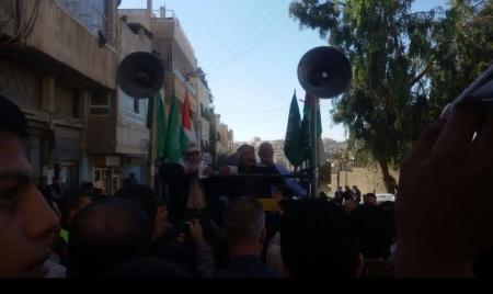 الزرقاء تنتصر للانتفاضة الفلسطينية اليكم صور