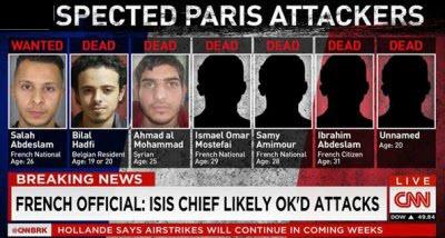 شاهد أسماء وأعمار وجنسيات 6 من المشتبه بتنفيذهم هجمات باريس