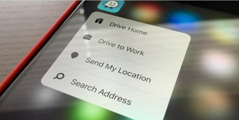 ����� ����� ������� Waze ��� iOS ���� ���� ����� 3D Touch
