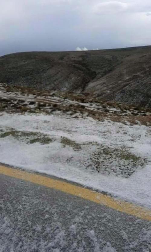 الطفيلة اول محافظة في المملكة الاردنية اكتست الثوب الابيض الثلج شاهد الصور
