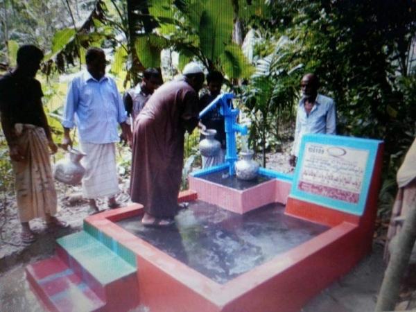 بالصور بئر ماء اردني في احدى قرى بنغلاديش