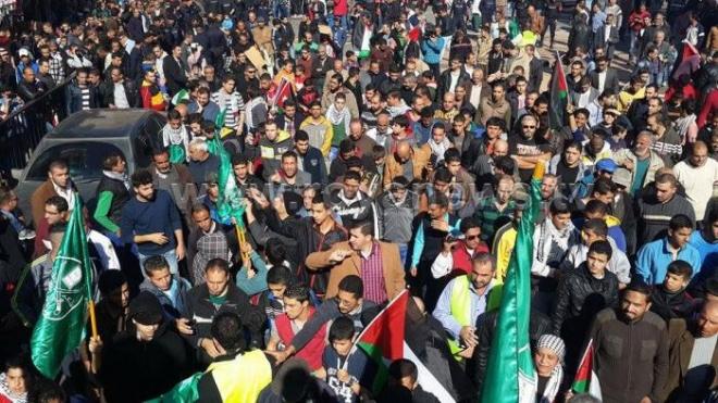 شاهد صور مسيرة في وسط البلد نصرة للمسجد الاقصى الجمعة 20-11-2015