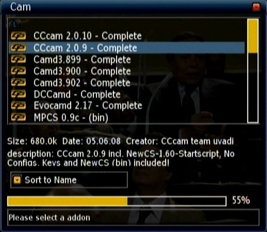 تثبيت ايمو سيسيكام للمشاهدة بالسيرفر cccam على ستريم 200