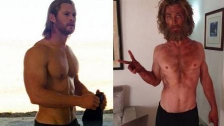 صور الممثل كريس هيمسوورث يخسر عضلاته و يتحول لهيكل عظمي و السبب