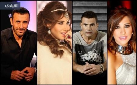 معلومات عن اغنى عشر فنانين عرب