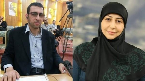 صورة مصرع نجل قيادي في حزب الله وإصابة زوجته مذيعة قناة المنار