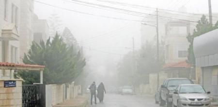 أمطار مخلوطة بالثلوج في الاردن يوم السبت 12-12-2015