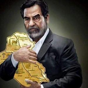 هاشتاغ صدام حسين , صورة للرئيس العراقي نشرت في صحيفة الاندبندنت