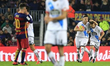 ديبورتيفو ينتزع تعادلا ثمينا من برشلونة السبت 12-12-2015 , الدوري الاسباني