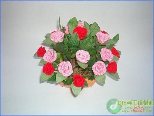 باقات من الورود من الكروشيه 2016, ورد كروشيه 2016 روعة