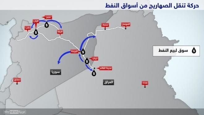 شاهد بالصور خرائط ذهب داعش الأسود