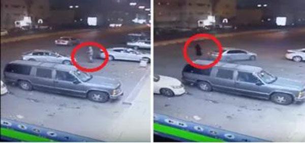 بالفيديو شاب يسرق سيارة بحي الروضة في تبوك وهروب امرأة كانت داخلها