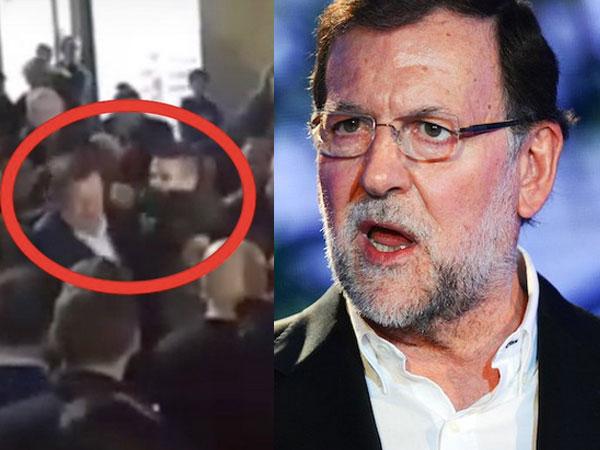 بالفيديو شاب إسباني يخدع رئيس الحكومة بالسيلفي ويوجه له لكمة حطمت نظارته