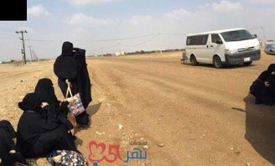 شاهد معلمة سعودية تتحكم بمقود السيارة بعد موت السائق على طريق حائل