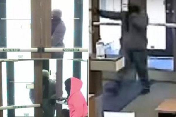 فيديو أراد السطو على مصرف وفشل في فتح الباب