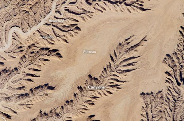 أفضل الصور الفضائية 2016 , صورة نهر الرياض الجاف الأفضل بالعالم