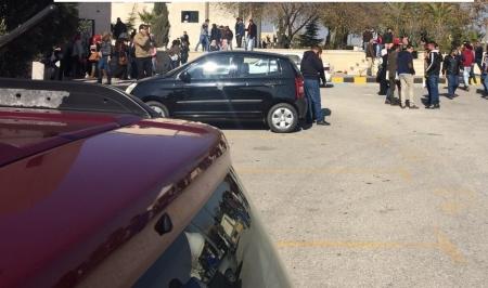 مشاجرة طلابية في جامعة الزيتونة الثلاثاء 22-12-2015 اطلاق نار واصابة طالبين