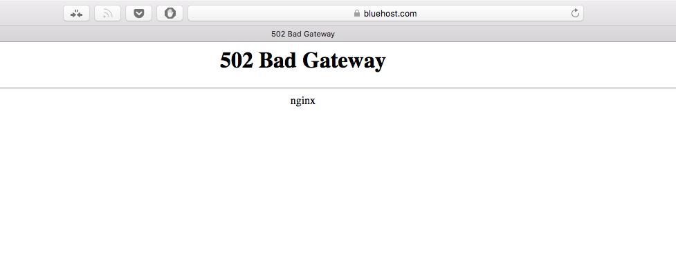 شركة بلوهوست للاستضافة , موقع استضافة بلوهوست متوقف عن العمل خطأ 502