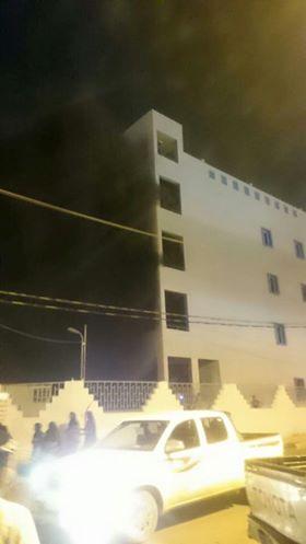 تغطية حريق مستشفى جازان , صور حريق مستشفى جازان العام 13-3-1437
