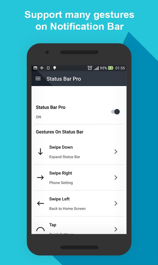 تحميل تطبيق StatusBar Pro يدعم ميزة 3DTouch على جوالات اندرويد