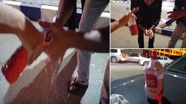 شاهد فيديو شباب سعوديين يغسلون ببنزين 95 بعد ارتفاع الاسعار