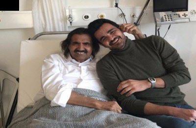 صور الشيخ حمد بن خليفة آل ثاني داخل غرفته بأحد المستشفيات السويسرية