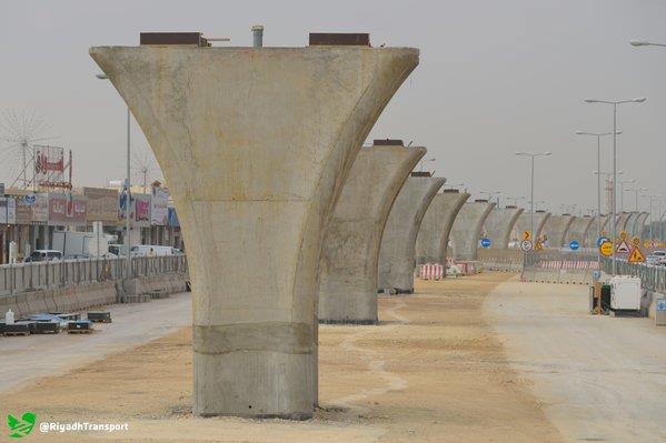 صور مشروع قطار الرياض , بالصور إنجاز 40% من أعمدة الجسور بالمسار السادس بقطار الرياض