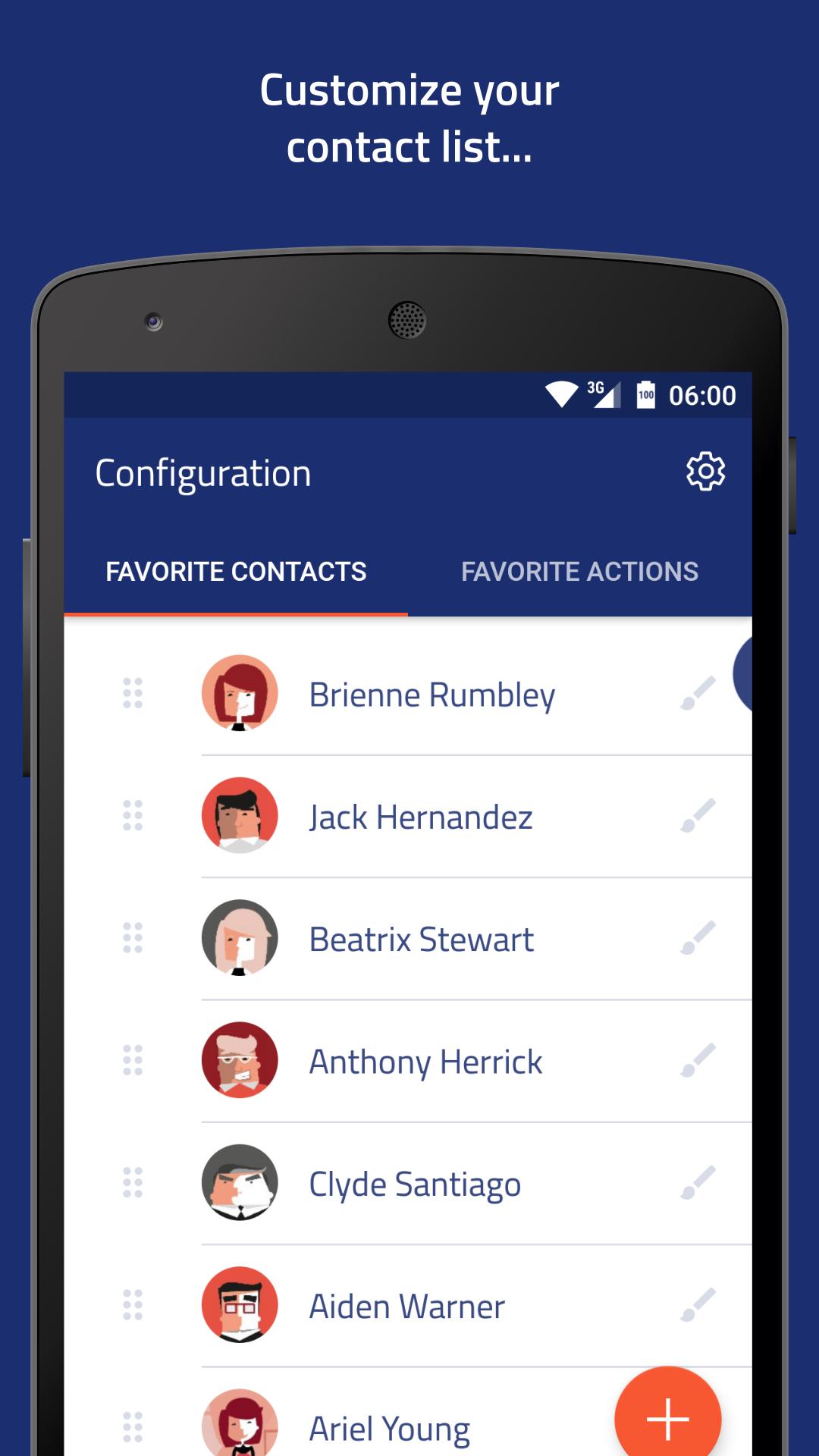 تحميل تطبيق Veer contacts widget بنسخته المجانية يسمح للمستخدم بإضافة 5 جهات إتصال
