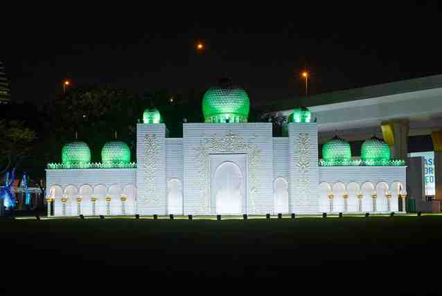 شاهد صور حديقة دبي المتوهجة أول حديقة للترفيه والتعليم , صور دبي جاردن جلو