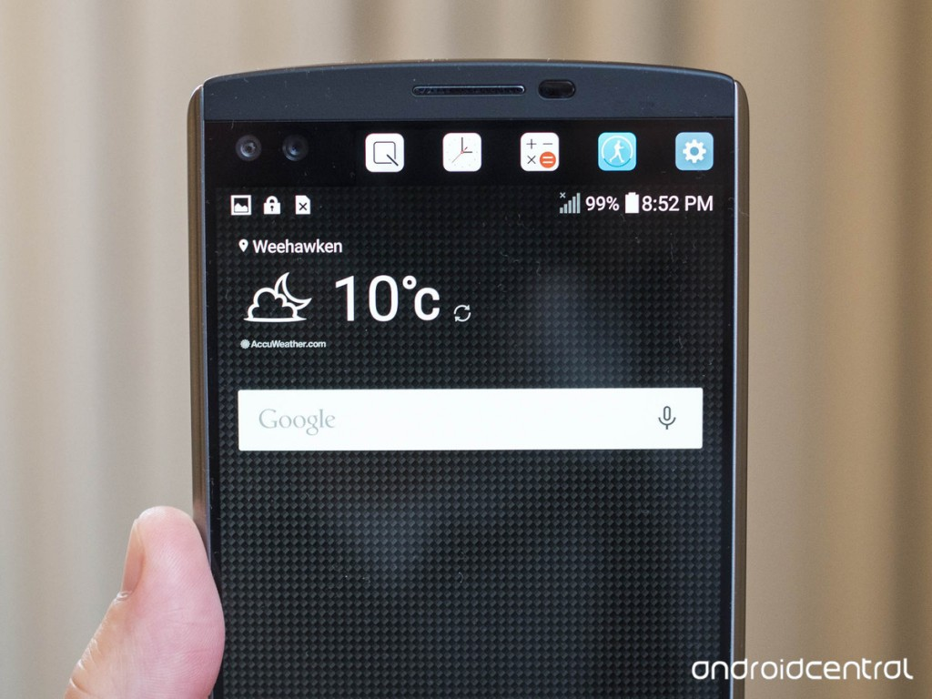 جوال إل جي جي 5 سيأتي بشاشة ثانوية صغيرة كما في LG V10 بالاضافة الى منفذ السحري