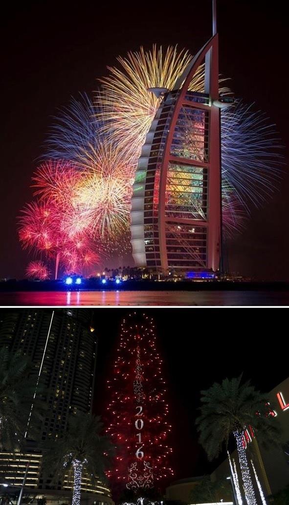 صور احتفالات رأس السنة الميلادية 2016 في جميع دول العالم بجودة hd