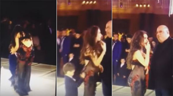 بالفيديو طفل يتحرش بالراقصة المصرية في الأفراح