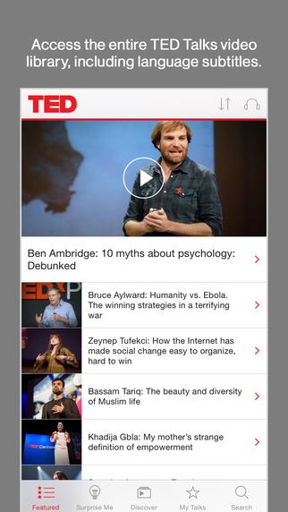 تحميل تطبيق TED لنظام أندرويد و iOS ينشر الافكار الجديدة والمتميزة للعالم 90 لغة