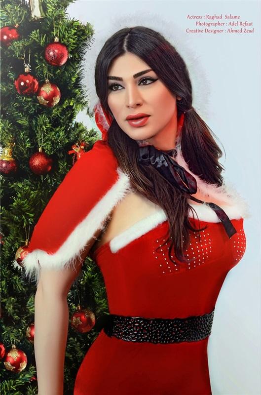 صور فاضحة اللبنانية رغد سلامة , شاهد اغراء رغد سلامه بلباس بابا نويل في راس السنة
