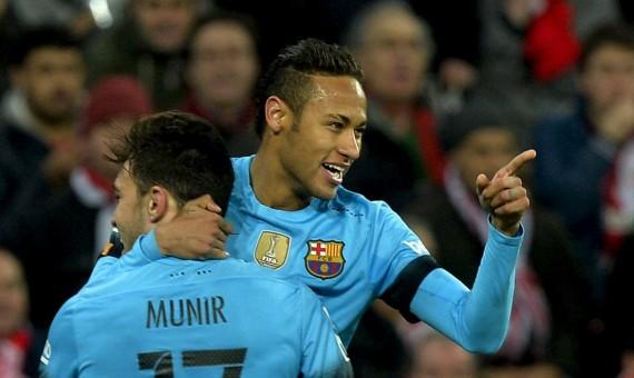 برشلونة يفوز على بلباو بثنائية رائعة من منير الحدادي ونيمار , كأس إسبانيا