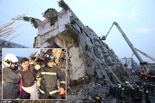 فيديو زلزال بقوة 6.4 في تايوان بالصور انهيارات وقتلى