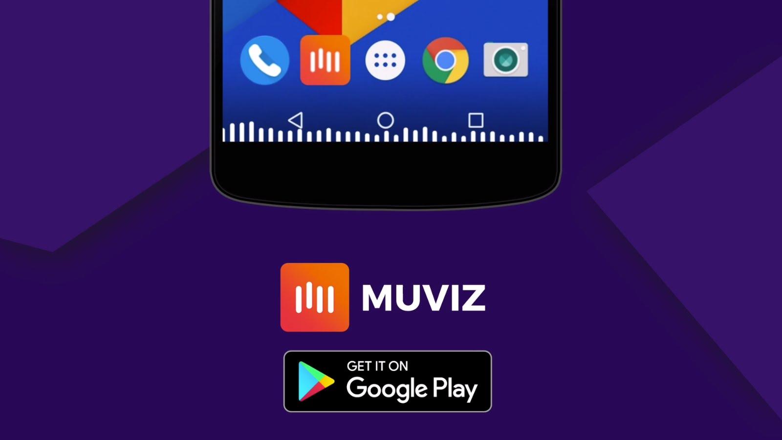 تحميل تطبيق MUVIZ لاضافة مؤثرات تفاعلية عند تشغيل الموسيقى والفيديو