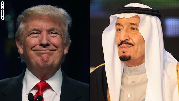 برقية تهنئة للسيد دونالد ترامب من سلمان بن عبدالعزيز آل سعود