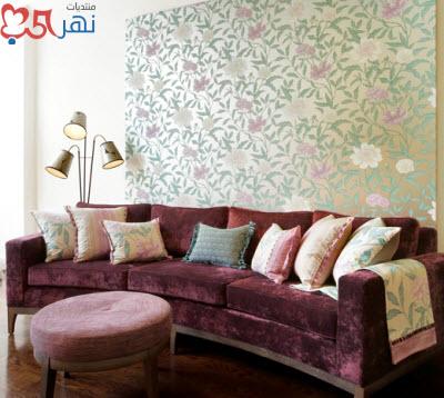 احدث تصاميم ورق الحائط غرف المعيشة