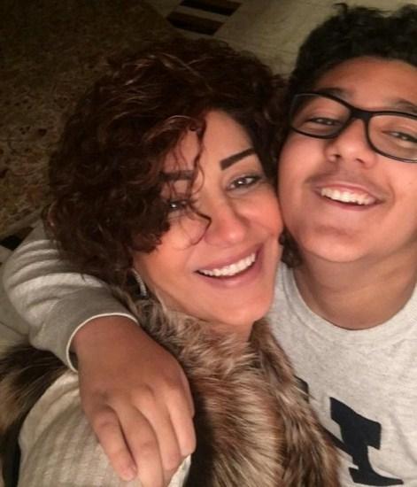 وفاء عامر فى أحدث صورة مع نجلها عمر