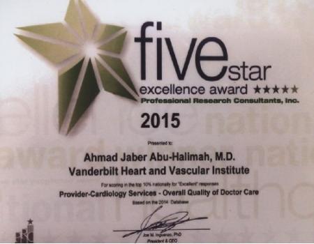 طبيب أردني يفوز بجائزة التميز العلاجية في اميركا