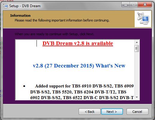تحميل نسخة دريم 2.8 dvbdream مفعله باروع الإضافات والقنوات الجديدة لعام 2016 فتح القنوات المشفرة
