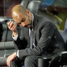 غوارديولا بعد خسارة فريقه أمام ريال مدريد يهنئ ريال مدريد الفوز بالليغا